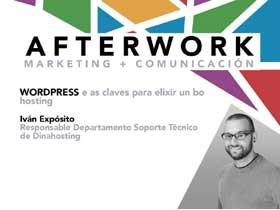 Afterwork en Santiago: WordPress e as claves para elexir un bo hosting